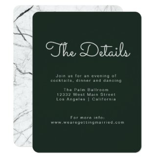 Forest Marble Details Card
