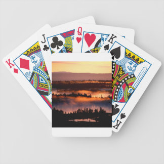 Forest Misty Valley Bicycle Card Deck