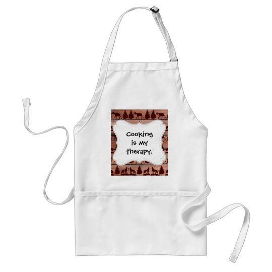 Forest Moose Wolf Wilderness Mountain Cabin Rustic Adult Apron