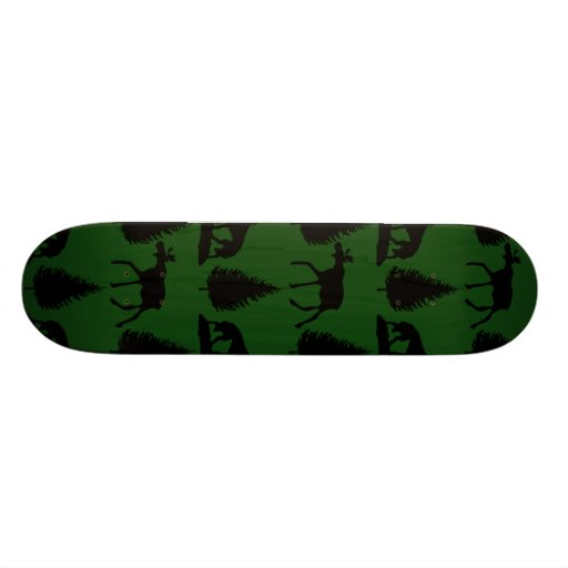 Forest Moose Wolf Wilderness Mountain Cabin Rustic Skate Deck