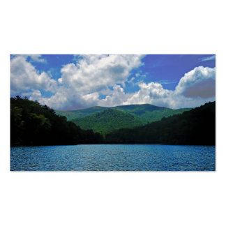 Forest Mountain Clouds Over A Lake Photo Business Card