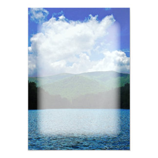 Forest Mountain Clouds Over A Lake Photo Card