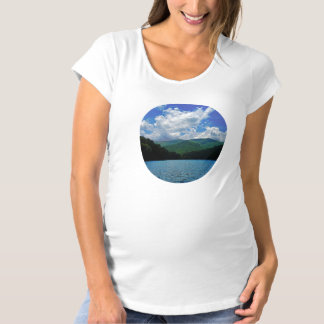 Forest Mountain Clouds Over A Lake Photo Maternity T-Shirt