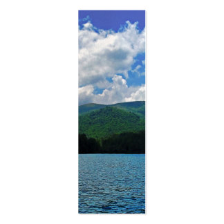 Forest Mountain Clouds Over A Lake Photo Mini Business Card