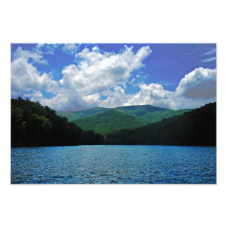 Forest Mountain Clouds Over A Lake Photo
