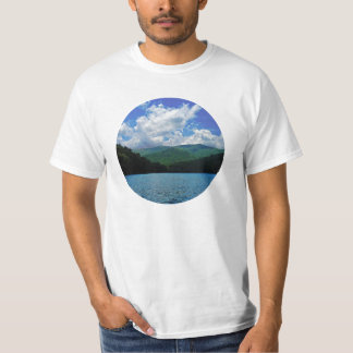 Forest Mountain Clouds Over A Lake Photo T-Shirt