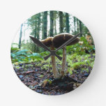 Forest Mushrooms Wall Clocks
