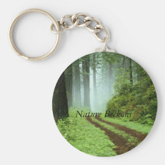 Forest, Nature Beckons Basic Round Button Keychain