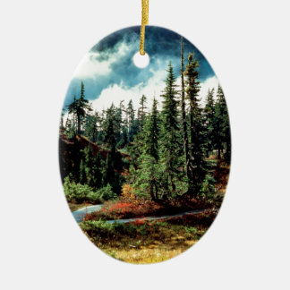 Forest Natures Majesty Ceramic Ornament