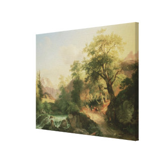 Forest near Vienna, 1852 (oil on canvas) Canvas Print