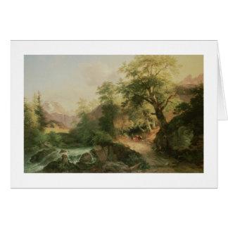Forest near Vienna, 1852 (oil on canvas) Card