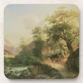 Forest near Vienna, 1852 (oil on canvas) Coaster