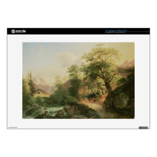 """Forest near Vienna, 1852 (oil on canvas) Decals For 15"""" Laptops"""