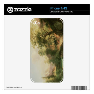 Forest near Vienna, 1852 (oil on canvas) Decals For The iPhone 4