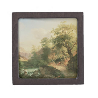 Forest near Vienna, 1852 (oil on canvas) Jewelry Box