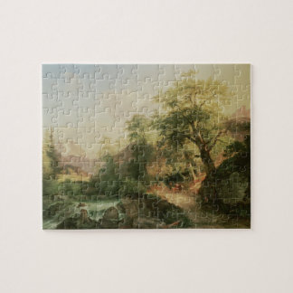 Forest near Vienna, 1852 (oil on canvas) Jigsaw Puzzle