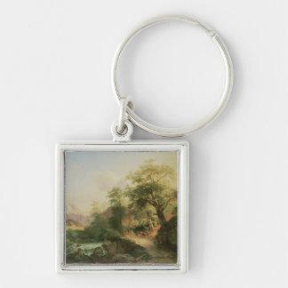 Forest near Vienna, 1852 (oil on canvas) Keychain