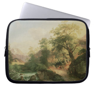 Forest near Vienna, 1852 (oil on canvas) Laptop Sleeve