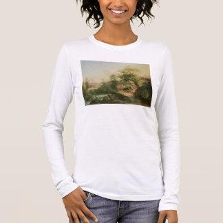 Forest near Vienna, 1852 (oil on canvas) Long Sleeve T-Shirt