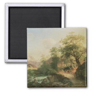 Forest near Vienna, 1852 (oil on canvas) Magnet