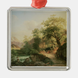 Forest near Vienna, 1852 (oil on canvas) Metal Ornament