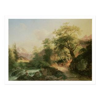 Forest near Vienna, 1852 (oil on canvas) Postcard