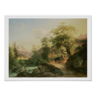 Forest near Vienna, 1852 (oil on canvas) Poster