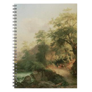 Forest near Vienna, 1852 (oil on canvas) Spiral Notebook