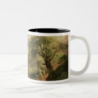 Forest near Vienna, 1852 (oil on canvas) Two-Tone Coffee Mug