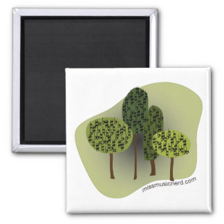 Forest of Accidentals Square Magnet
