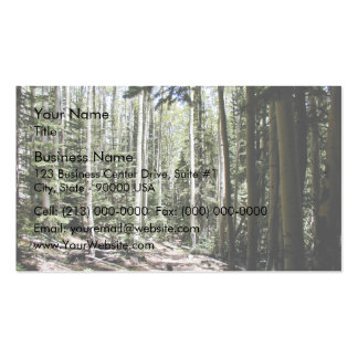 Forest of aspen trees business card