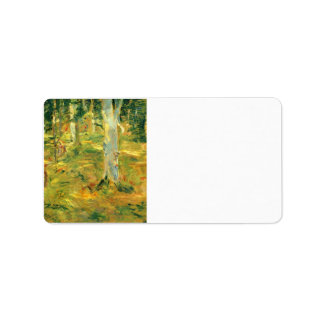 Forest of Compiegne by Berthe Morisot Custom Address Labels