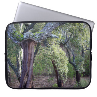Forest of cork oaks or cork trees laptop sleeve