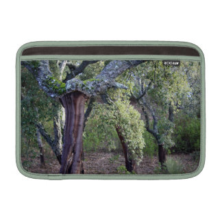 Forest of cork oaks or cork trees sleeve for MacBook air