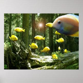 Forest of Fish sequoia national aquarium Poster CA
