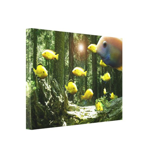 Forest of floating fish sequoia Canvas Print art