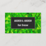 "[ Thumbnail: ""Forest"" of Green Triangle Shapes Pattern Card ]"