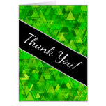 """[ Thumbnail: """"Forest"""" of Green Triangle Shapes Pattern Card ]"""