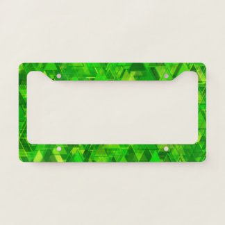 """Forest"" of Green Triangle Shapes Pattern License Plate Frame"