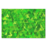 "[ Thumbnail: ""Forest"" of Green Triangle Shapes Pattern Tissue Paper ]"