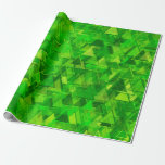 "[ Thumbnail: ""Forest"" of Green Triangle Shapes Pattern Wrapping Paper ]"