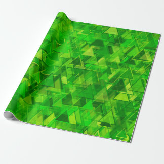 """""""Forest"""" of Green Triangle Shapes Pattern Wrapping Paper"""