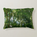 Forest of Palm Trees Tropical Green Accent Pillow