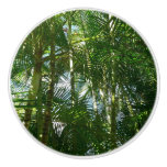 Forest of Palm Trees Tropical Green Ceramic Knob