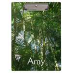 Forest of Palm Trees Tropical Green Clipboard
