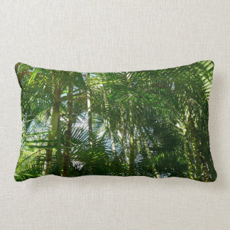 Forest of Palm Trees Tropical Green Lumbar Pillow
