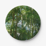Forest of Palm Trees Tropical Green Paper Plate