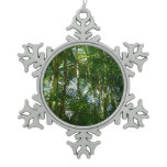 Forest of Palm Trees Tropical Green Snowflake Pewter Christmas Ornament