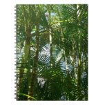 Forest of Palm Trees Tropical Green Spiral Notebook