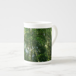Forest of Palm Trees Tropical Green Tea Cup